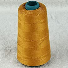 5pc 3000yard/cone Large Cones Cotton Thread Quilting Serger I0066 (Golden)