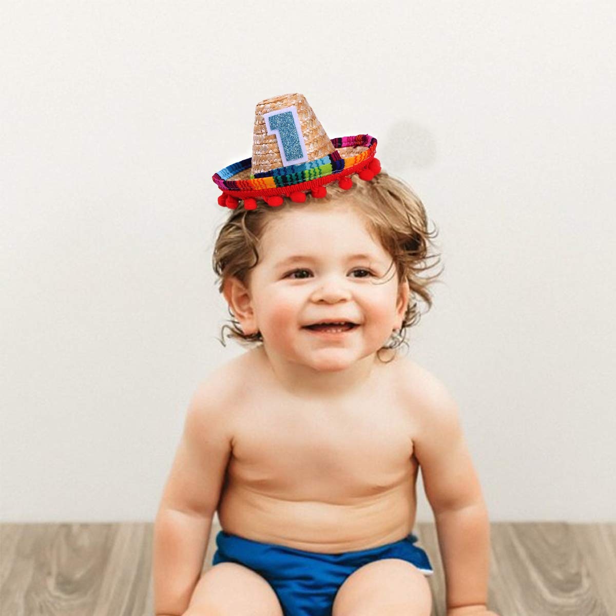 Mini Sombrero Hats for 1st Birthday - Fiesta Cupcake Toppers for Mexican  Party Decorations 5186a64ee5c5