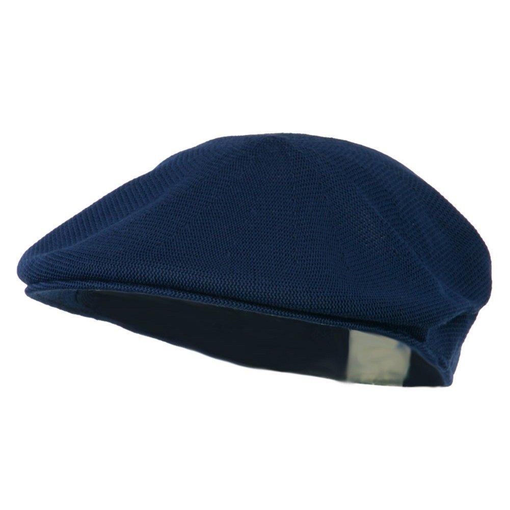 Mens Navy Blue Knitted Golf Gatsby Ascot Newsboy Cap by Q Headwear