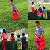 VNOM Potato Sack Race Bags, Perfect Outdoor Games for Birthday Party Class Family Reunions for Kids & Adults|24.5'' Hx18.5 W| Bright Assorted Colors |Sturdy Rugged (5 Bags in 5 Colors)