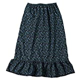 Girls Calico Pioneer Peasant Costume Skirt (Girls XX-Large 12/14, Blue Calico)
