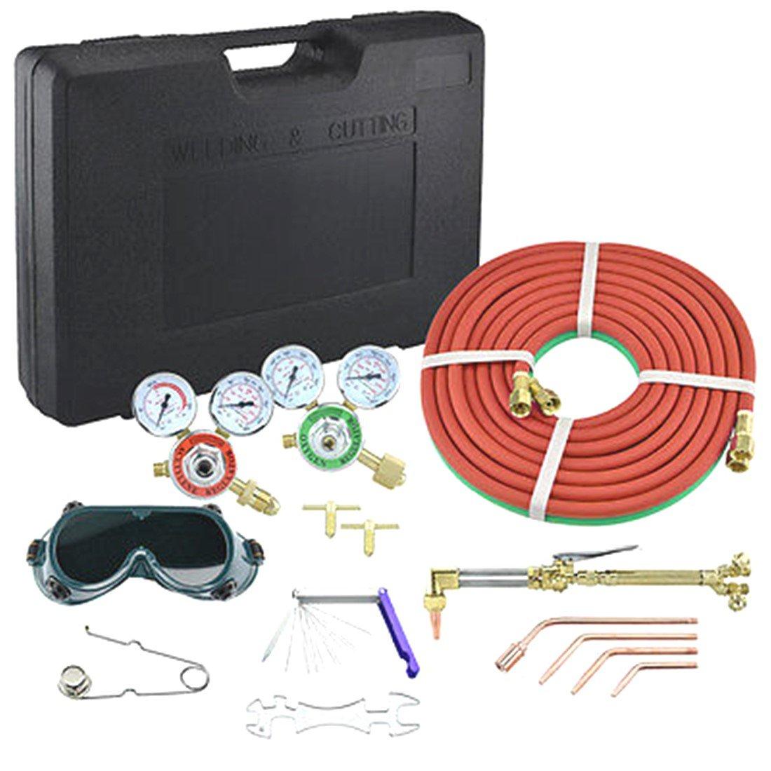 Antorcha de Gas Soldadura y corte acetileno oxígeno portátil Kit soldador conjunto regulador: Amazon.es: Bricolaje y herramientas