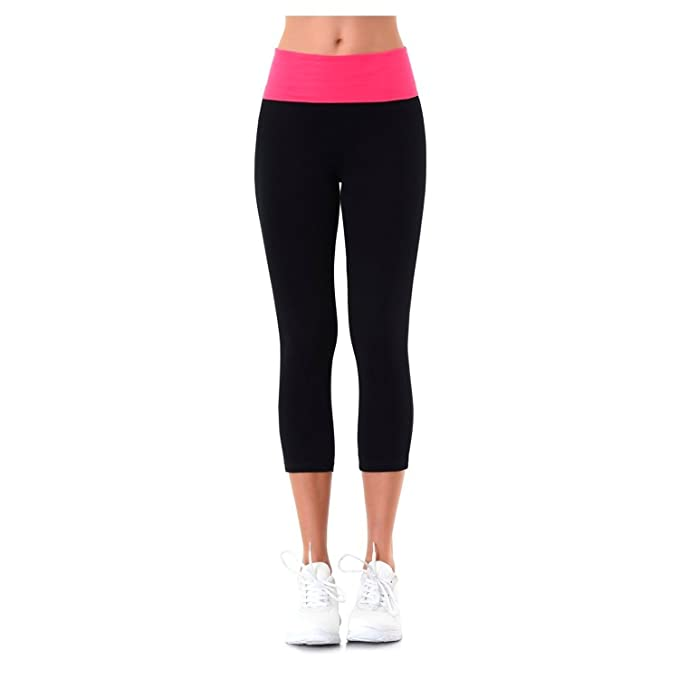 Matts Global Slim-Fit Style Ladies Capri Yoga Leggings ...