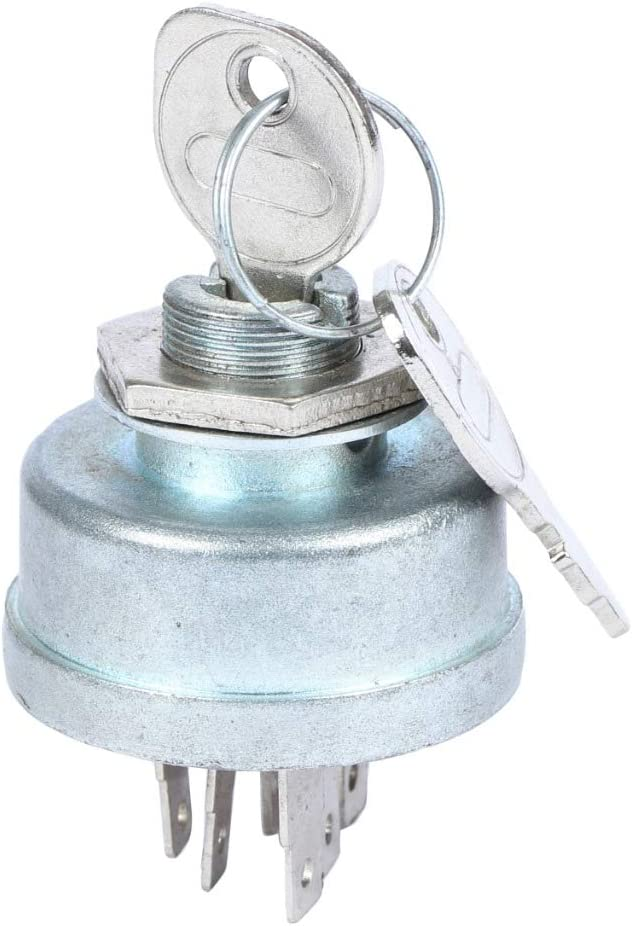 Virtionz Ignition Switch | Replaces Craftsman/Husqvarna/Poulan | OEM No. 140301, 53214030 : 430-674, 5412H1, 334013B 925-1717 92556 & Many Others Comes with Two Keys