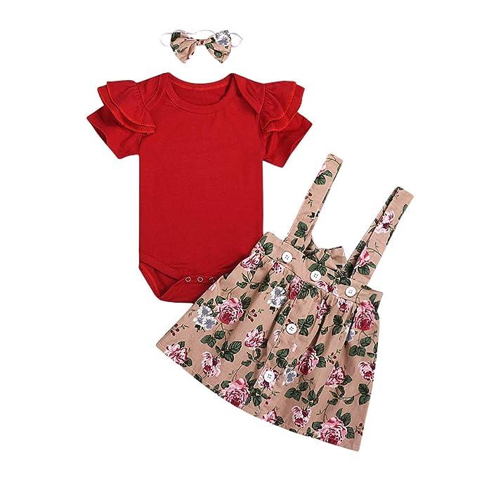 Amazon.com: Conjunto de ropa para bebés y niñas de manga ...