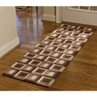 Park Designs Log Cabin Hooked Rug Runner, 24 x 72