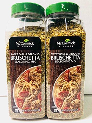 - McCormick Gourmet Bruschetta Seasoning Mix, Sweet Basil & Oregano 19 Ounce (Pack of 2)
