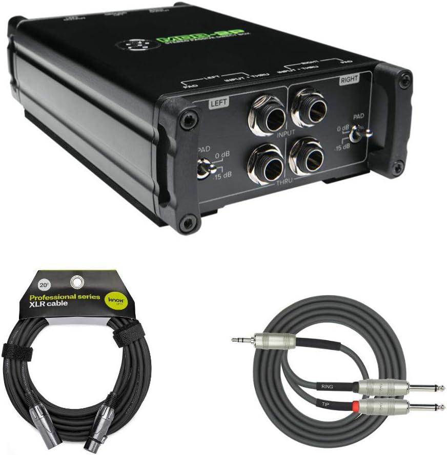 Mackie MDB-2P Caja directa pasiva estéreo con Knox XLR y paquete de cable Breakout: Amazon.es: Instrumentos musicales