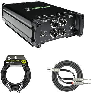 Mackie MDB-2P Caja directa pasiva estéreo con Knox XLR y paquete ...
