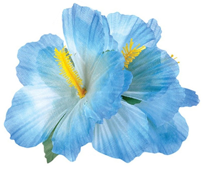 Amazon new blue adult luau hawaiian flower hibiscus costume amazon new blue adult luau hawaiian flower hibiscus costume accessory hair clips clothing izmirmasajfo