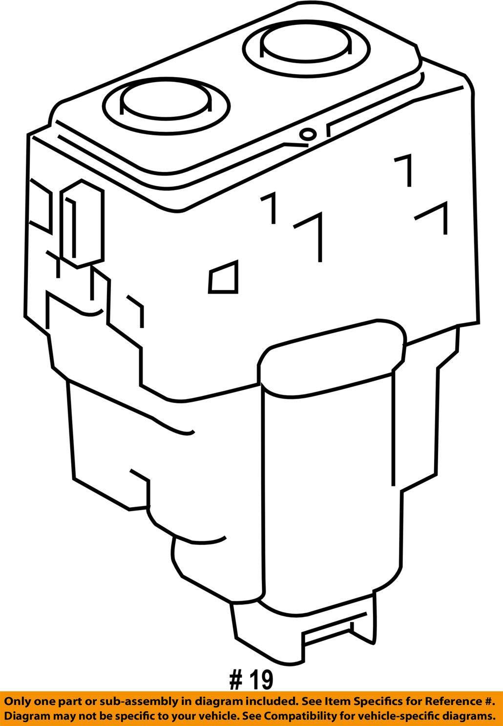 Toyota 84752-07010 Refreshing Seat Switch