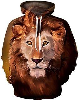 3D Women/Men Hoodie Print Cat Tiger Lion Hip Hop Casual Style