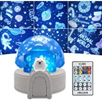 Laysinly Snow House Kids Projector Light, Remote Control Night Light Projector with Music, Timer, Flash, LED Light…