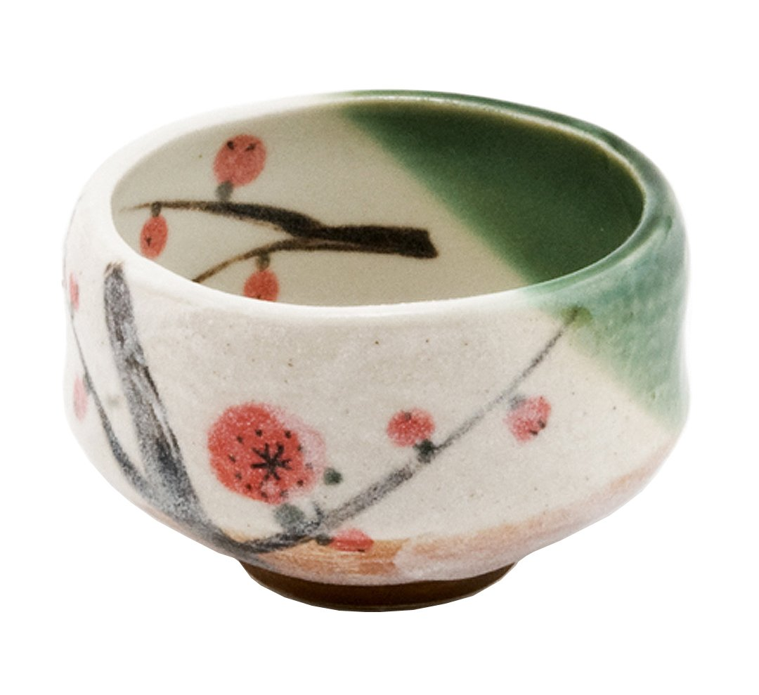 Happy Sales HSMB-CWCB1, Authentic Japanese Traditional Tea Ceremony Matcha Bowl Chawan Handcrafted in Japan, Cherry Blossom Design by Happy Sales