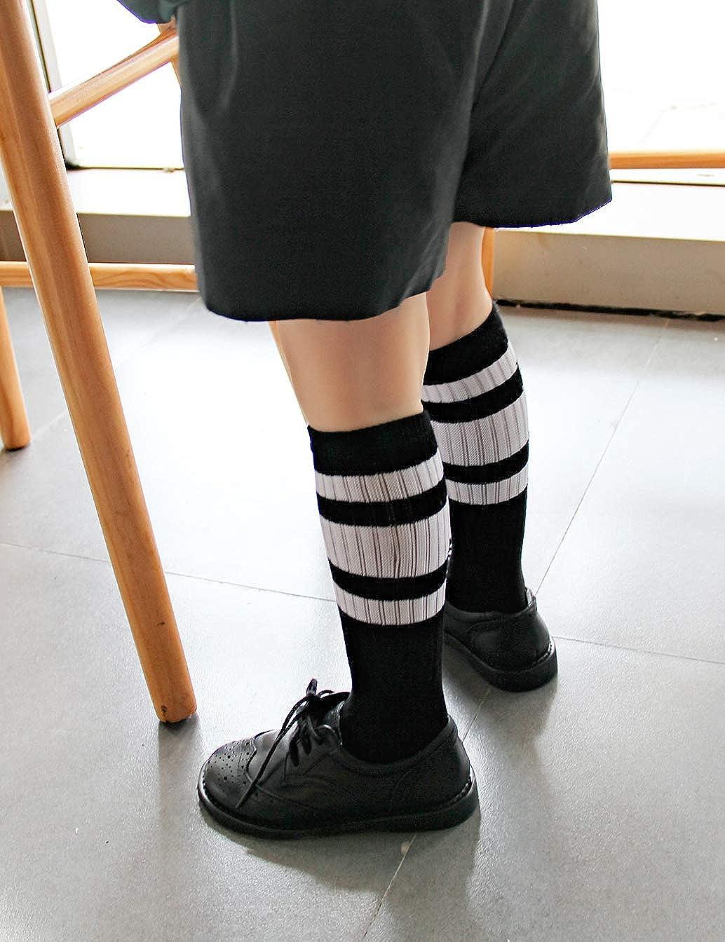 Girls Toddler /& Child 3,4 Pairs Knee High Tube Socks for Boys Baby