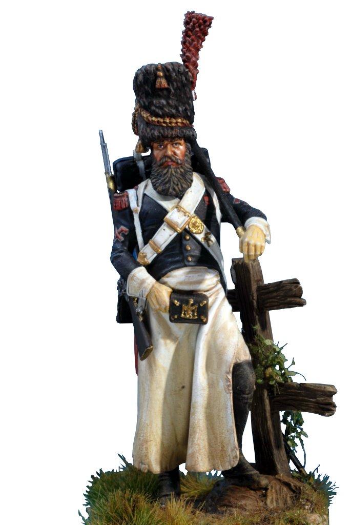 Künstlerische handbemalte Soldat für Sammler - Grenadier Napoleons Kaisergarde