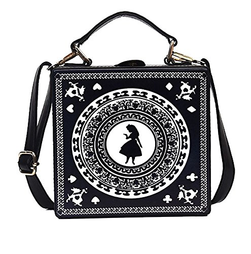 - Nite closet Gothic Purses and Handbags Lolita Alice Satchel Shoulder Bag (Black)