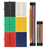 BENGIX Solderless Breadboard 170/400/830 Tie Point Prototype Breadboard for Arduino with 40/80 pcs Dupont wire(M/M) (170 tie points+dupont wire)