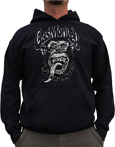 Black Gas Monkey Garage Officially Licensed White Logo Big /& Tall Hoodie