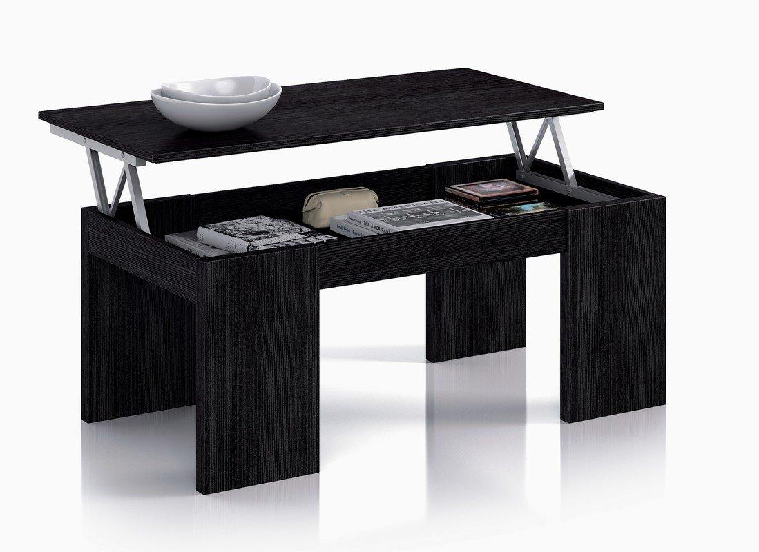 Expédié Baléares et Peninsula – Table de Basse avec système relevable Noir 43 x 100 x 50 cm