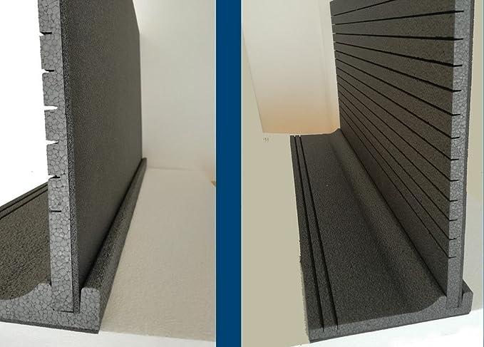 Stop a las corrientes de aire - KIT de1 metro de aislamiento térmico acústico - Para cajón de persiana enrollable: Amazon.es: Bricolaje y herramientas