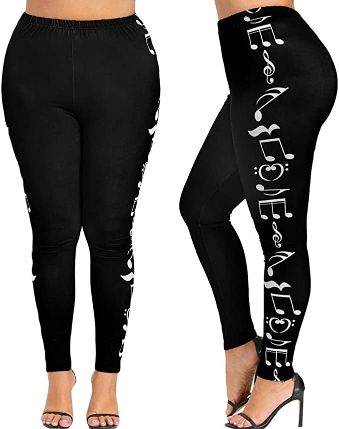 Amazon.com: bsgsh Leggings para mujer Cintura Alta Plus ...