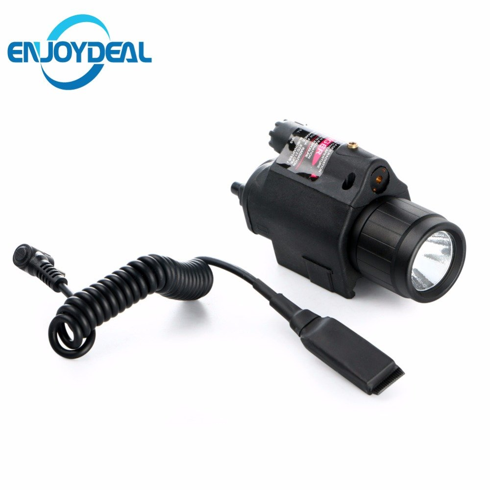 Hot Insight CREE Q5 LED-Taschenlampe, 300 Lumen, 2 x 3 V, CR123A Akku für Pistole, Handpistole, Schwarz