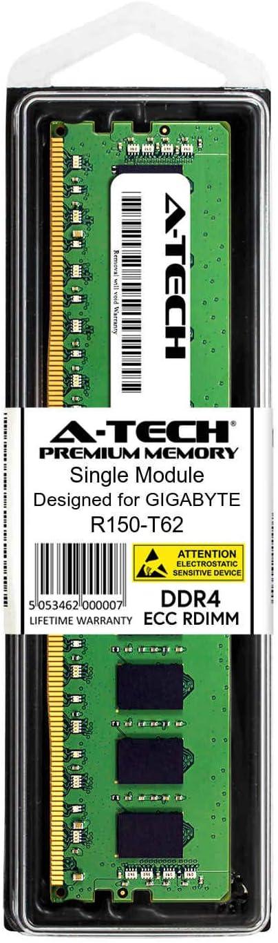 AT385280SRV-X1R9 Server Memory Ram DDR4 PC4-21300 2666Mhz ECC Registered RDIMM 2rx4 A-Tech 16GB Module for GIGABYTE R150-T62