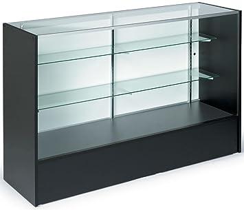 Amazon.com: 5ft. Glass Display Cabinet - with Sliding Door, Height ...