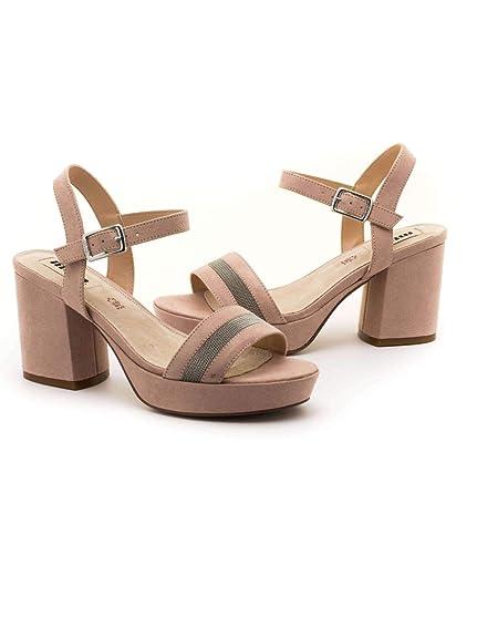 Sandalia Mustang Isquia Nude: Amazon.es: Zapatos y complementos