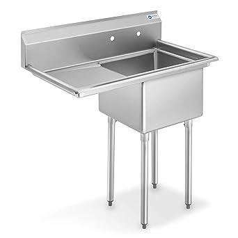 Amazon.com: GRIDMANN NSF fregadero de cocina comercial de ...