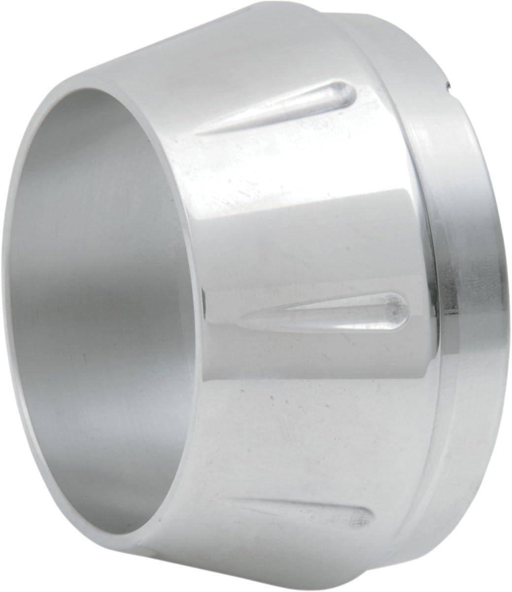 Polished Billet//Tapered with Flutes//Short//Single Bassani Xhaust Megaphone 4 End Cap