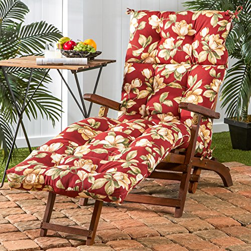 ART TO REAL Garden Reclining Chair with Khaki Cushions Patio