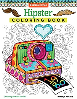 Amazoncom Hipster Coloring Book Design Originals 8601419687107