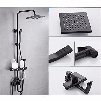 Amazon.com: SJQKA Shower Head European Style Shower Dark Loading ...