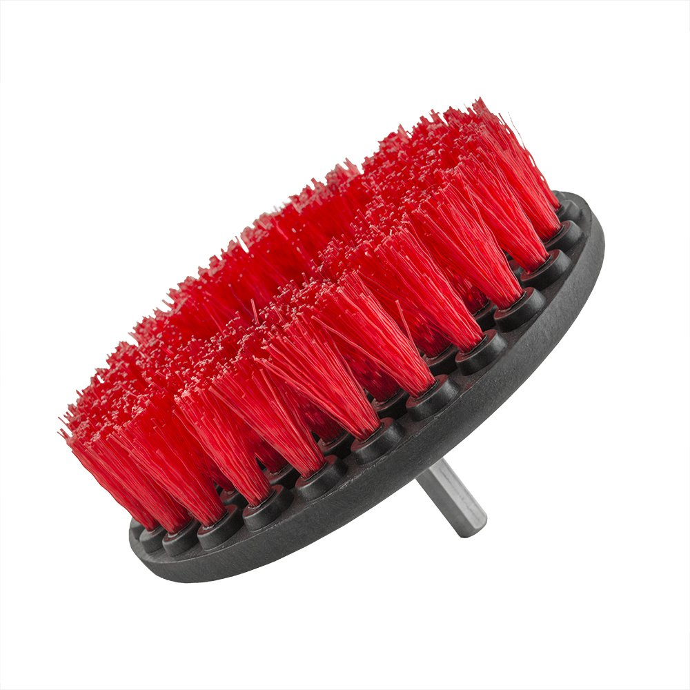 Chemical Guys CARPET BRUSH W/DRILL ATTACHMENT - HEAVY DUTY (RED) ACC_201_BRUSH_HD