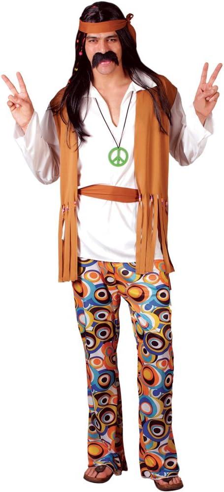 Hippie - Disfraz adultos, talla L (EM-3035. L): Amazon.es ...