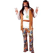1960s - Disfraz de hippie para hombre, talla M (EM-3035. M ...