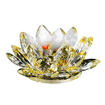 Amazon Coerni Crystal Glass Lotus Flower Candle Holders By C