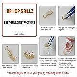 XYZ Hip Hop Grillz Flat Bottom Grills 14K Gold