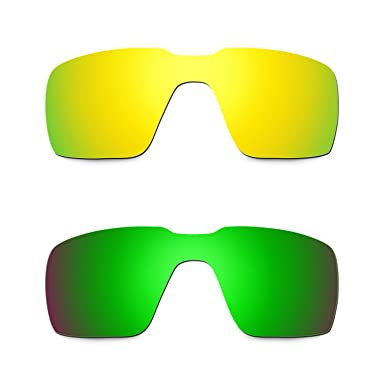 0db2ed934fc37 Hkuco Mens Replacement Lenses For Oakley Probation 24K Gold Emerald Green  Sunglasses