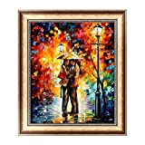 (US) Doober Rain Lovers Diamond Painting Rhinestone Cross Stitch 5D DIY Embroidery Decor