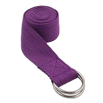 Weimay Yoga Correa Largo Yoga Estiramiento cinturón Cintura ...