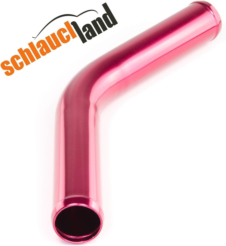 Schlauchland Alu-Bogen 45/° AD 80mm BLAU ***** auch in ROT oder SCHWARZ *** Alubogen Alurohr Rohrbogen Pipe Turbo Ladeluftk/ühler