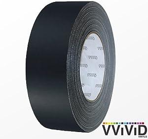 VViViD Black Matte Air-Release Adhesive Vinyl Tape Roll (6 Inch x 20ft)