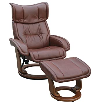 Groovy Amazon Com Leather Recliner Carlton In Cognac Leather Bralicious Painted Fabric Chair Ideas Braliciousco