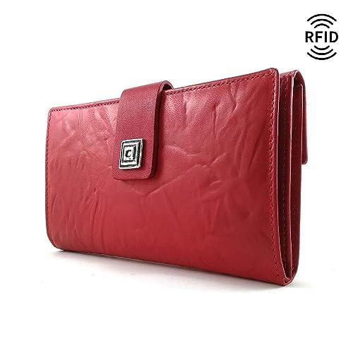 Monedero Mujer, RFID, Cartera Mujer, Hecho España, Casanova, Hecha en Piel de Vaca, Ref. 27118 Rojo: Amazon.es: Handmade