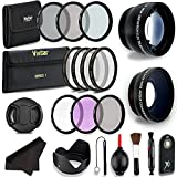 Professional 55MM Lens & Filter Bundle For Nikon– Complete DSLR/SLR Compact Camera Accessory Kit – Lenses (Telephoto, Wide Angle), Filters (Macro, ND, UV, CPL, FLD), Cleaning Tools + MORE Accessories