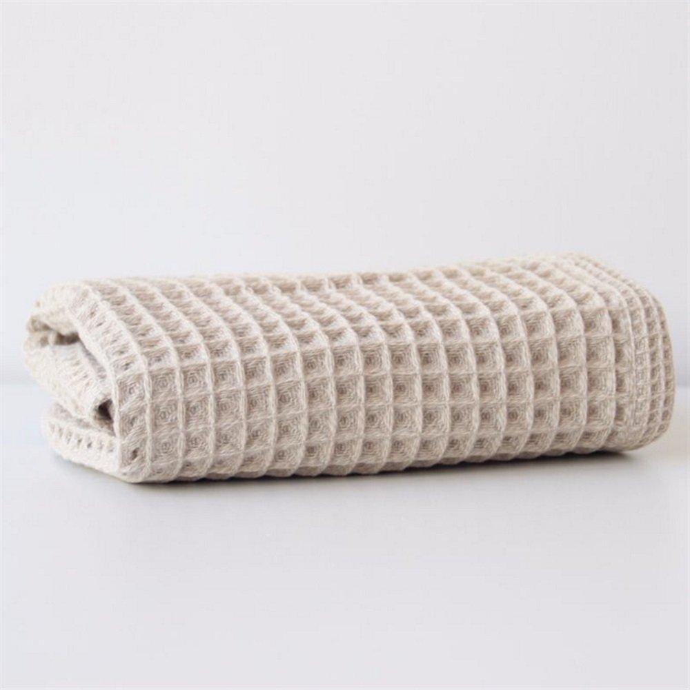 Fushenr Asciugamano da Piscina Asciugamano in Cotone Morbido Assorbente a Nido dApe da Cucina in Tinta Unita a Nido dApe 1PC Asciugamano Assorbente Colore : Beige