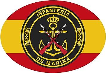 Artimagen Pegatina óvalo España con Círculo Infantería de Marina 65x45 mm.: Amazon.es: Coche y moto